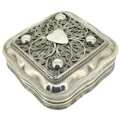 Peppermint Box, Antique, the Netherlands, Filigree, 1870