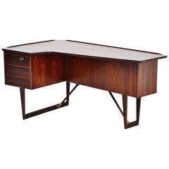 Peter Lovig Nielsen Rosewood Boomerang Desk, Denmark, 1956