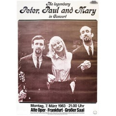 Peter, Paul and Mary 'Such Is Love', 1983 Original Concert Music Poster