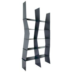 Petra Modular Luxury Bookshelf, Metal Structure in RAL Colors, Made in Italy
