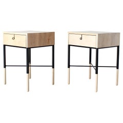 Phillip Maple Side Table and Nightstand Set
