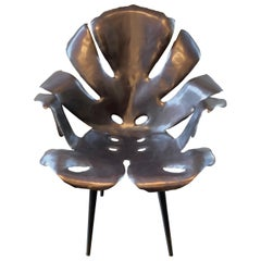 Philodendron Leaf Dinning Chair in Solid Bronze by Christopher Kreiling Studio