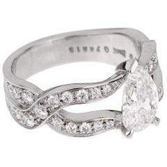 Piaget Jardin Secret Pear Diamond Engagement Ring
