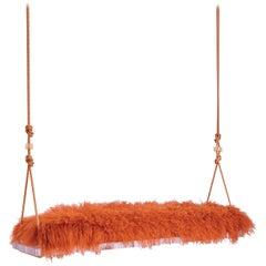 Pick-Me-Up Swinging Bench in Orange