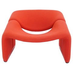 Pierre Paulin Iconic Space Age Power Red Armchair Mod. Groovy, 1973 Artifort