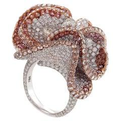 Pink Magnolia Ring by Neha Dani