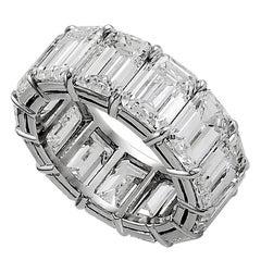 Platinum Emerald-Cut Diamond Eternity Ring