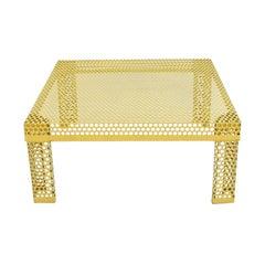 'Pleinair' Low Table in Perforated Metal by Ammannati & Vitelli for Brunati