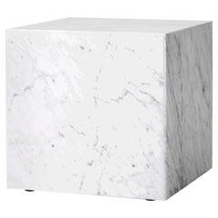 Plinth, Cubic, White Marble
