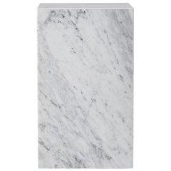 Plinth, Tall, White Marble