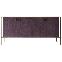 PONTE Credenza - cerused oak with patinated brass plated steel