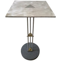 Postmodern Telephone Accent Occasional Side or End Table in Steel and Brass