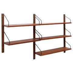 "Poul Cadovius for Cado ""Royal System"" Two Modular Wall Shelves, 1948"