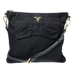 Prada Black Tessuto Nylon Crossbody Bag