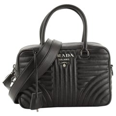 Prada Bowling Bag Diagramme Quilted Leather Medium