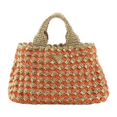 Prada Canapa Tote Straw Medium