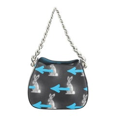 Prada Chain Shoulder Bag Printed Vitello Daino Small