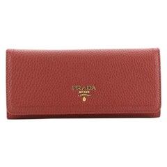 Prada Continental Wallet Vitello Daino Long