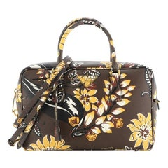 Prada Convertible Bauletto Bag Printed Saffiano Large