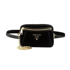 Prada Convertible Belt Bag Velvet Small