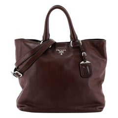 Prada Convertible Shopper Tote Soft Calfskin Large