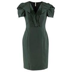 Prada Green Duchess-Satin Dress IT 42