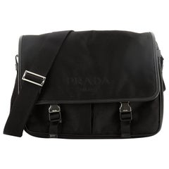 Prada Logo Messenger Bag Tessuto Medium