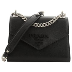 Prada Monochrome Shoulder Bag Saffiano Leather
