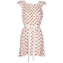 Prada Red White Lips Print Mini Dress Resort, 2012