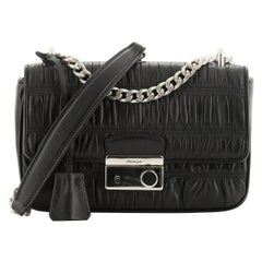 Prada Sound Shoulder Bag Nappa Gaufre Small