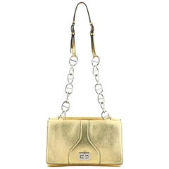 Prada Turnlock Flap Chain Bag Leather Small