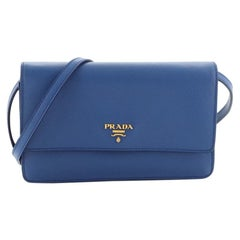 Prada Wallet Crossbody Saffiano Leather