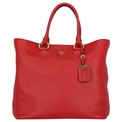 Prada Women's Handbag Red Leather