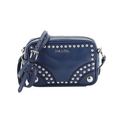 Prada Zip Crossbody Bag Studded Soft Calfskin Mini