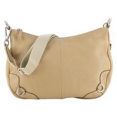 Prada Zip Messenger Bag Leather Medium