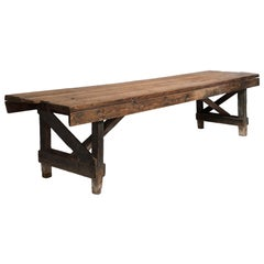 Primitive Dining Table, France, 19th Century