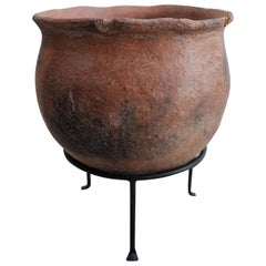 Primitive Styled Terracotta Pot from Oaxaca