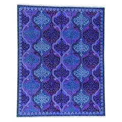 Pure Cotton Agra Mughal Design Vibrant Colors Oriental Rug