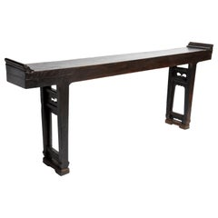 Qing Dynasty Chinese Altar Table with Double Stretcher