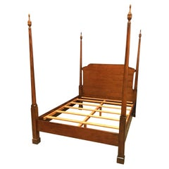 Queen Size Mahogany Pencil Post Bed by Leighton Hall