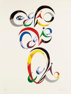 Composition - Original Lithograph by Raphael Alberti - 1972