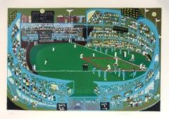 Ballpark, Serigraph by Ralph Fasanella
