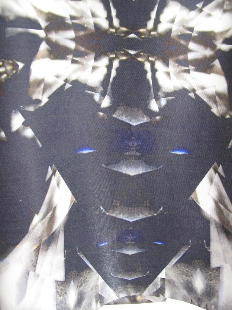 Gray Rare 2009 Alexander McQueen Crystal Skeleton Dress  For Sale