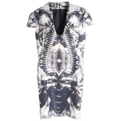 Rare 2009 Alexander McQueen Crystal Skeleton Dress