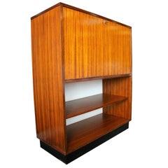 Rare Alfred Hendrickx 'Belgium' Rosewood Drop Front Secretary Desk by Belform