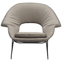 Rare and Early Model 'Womb' Chair with Metal Shell by Eero Saarinen for Knoll