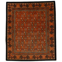 Rare and Unusual Antique Kashgar Rug with Mughal Pattern