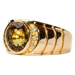 Rare Certified Fancy Tourmaline Men's Ring