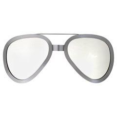 Rare Curtis Jere Steel Aviator Sunglasses Mirror Wall Sculpture, Signed