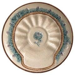 Rare French Majolica Artichoke Plate Longchamp, circa 1890